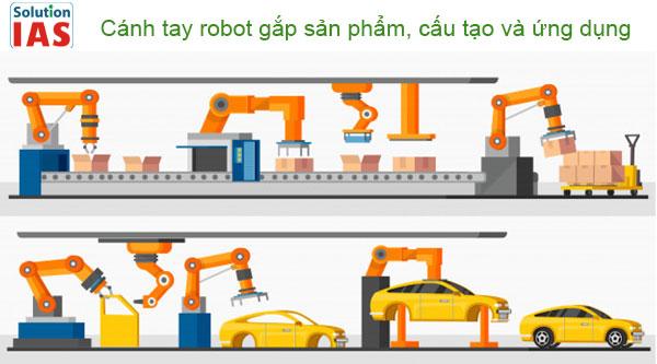 Cánh tay robot gắp sản phẩm, cấu tạo và ứng dụng