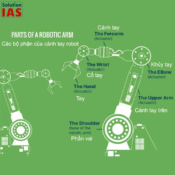 Cánh tay robot gắp sản phẩm