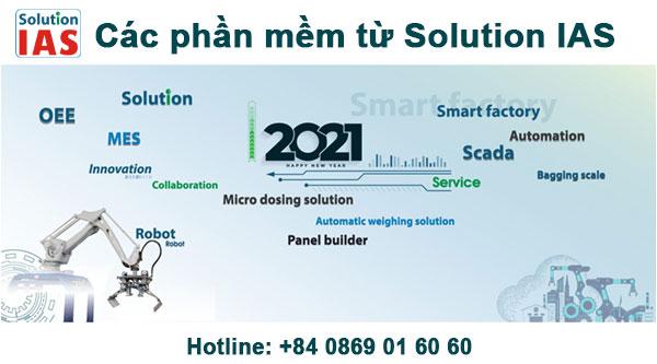 Các phần mềm từ Solution IAS (phần mềm sản xuất mes – scada, phần mềm kho, quản lý bảo trì….)